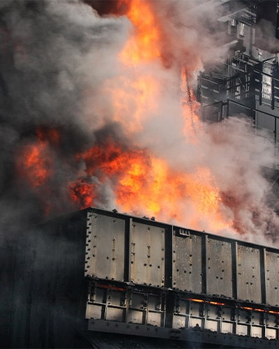 Industrial Building On Fire