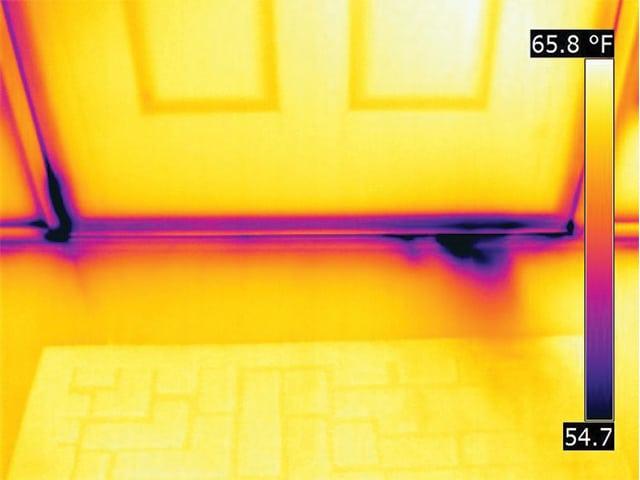 Temperature Example In Front Of Door