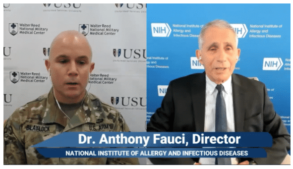 A Screen Shot Of Anthony S. Fauci